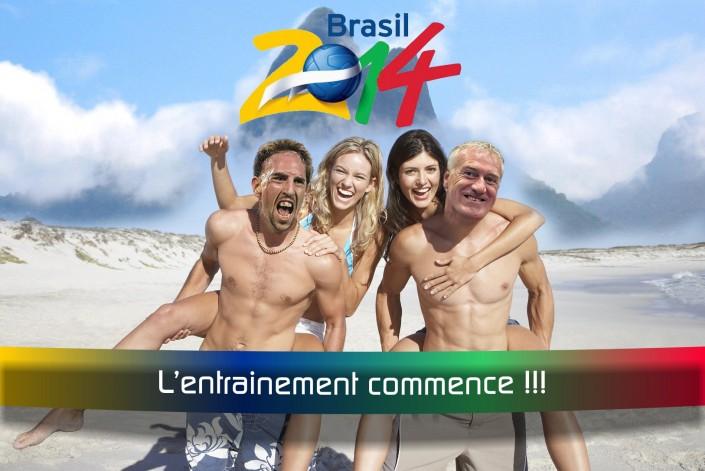 l'entrainement des bleus au brésil