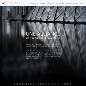 Creation de site internet - Singer & Hamilton