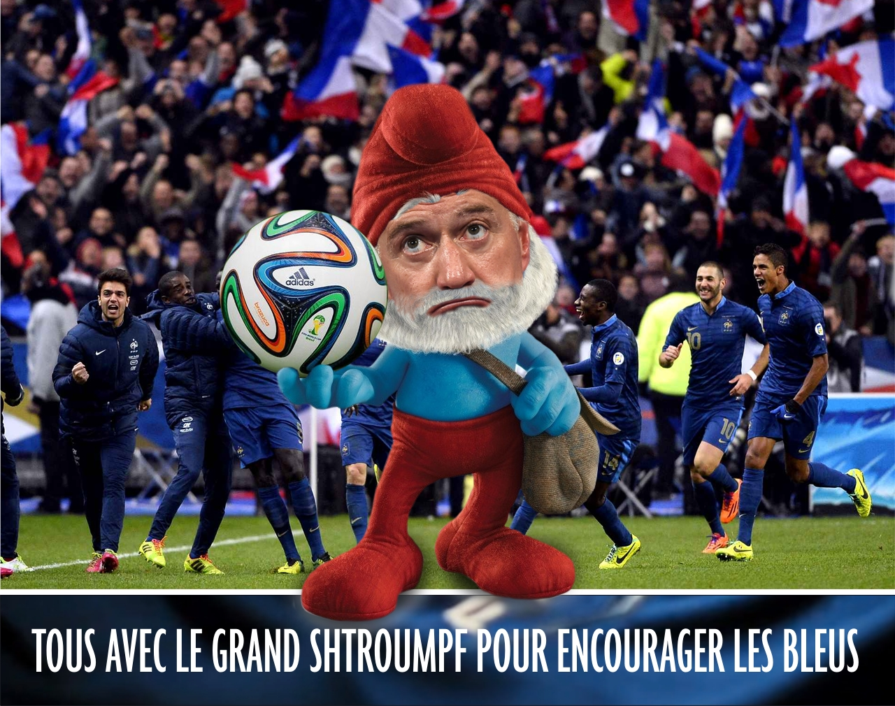 Didier Deschamps le Grand Shtroumpf