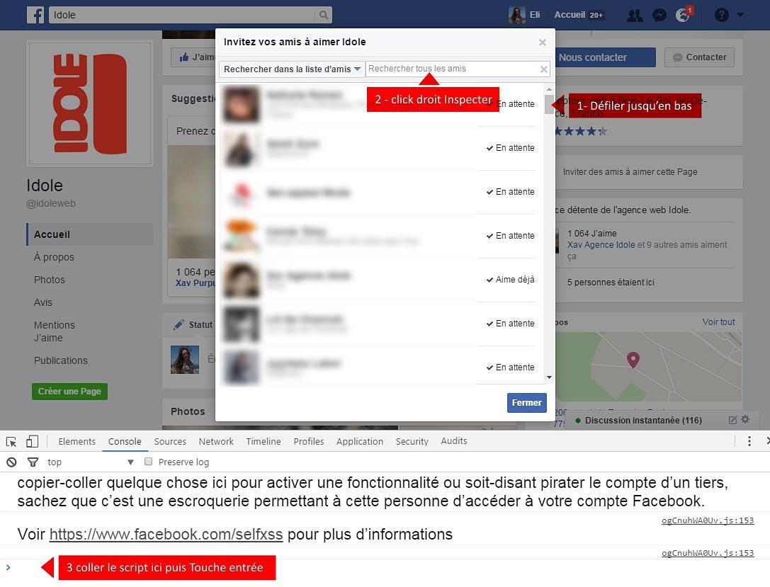 script facebook inviter ses amis