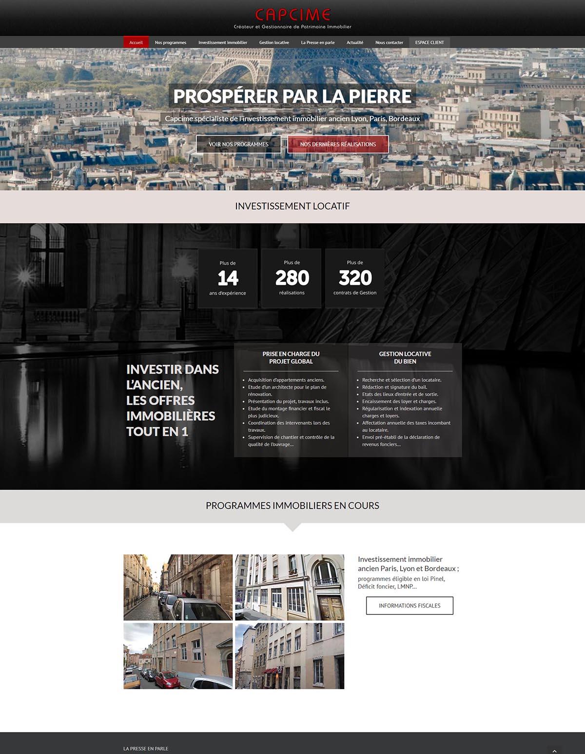 Création site internet Capcime