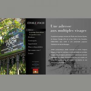 mini site de présentation immobilier de luxe