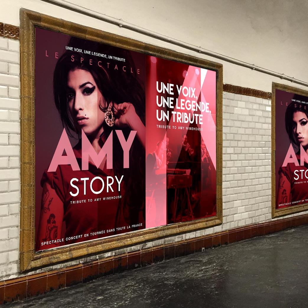 Affiche Metro Amy Winehouse Tribute