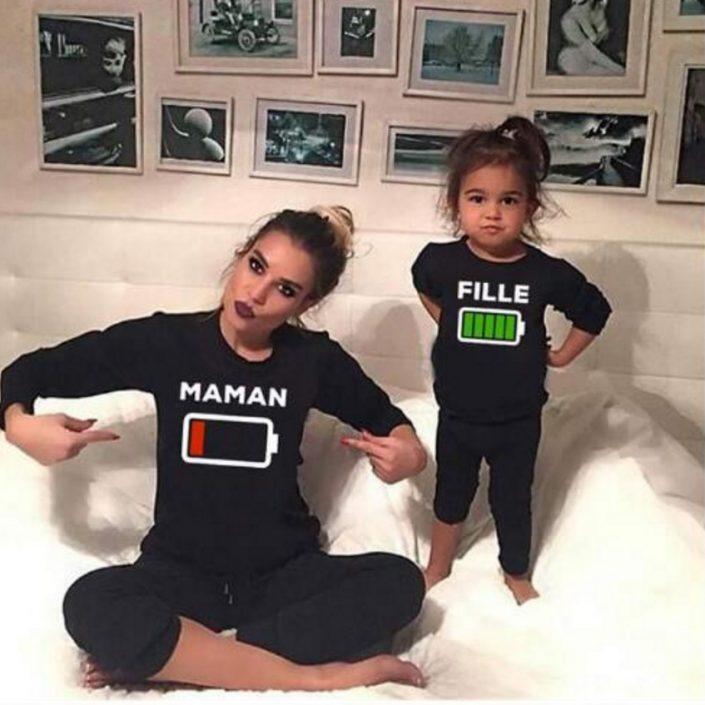 T-shirt duo maman et fille