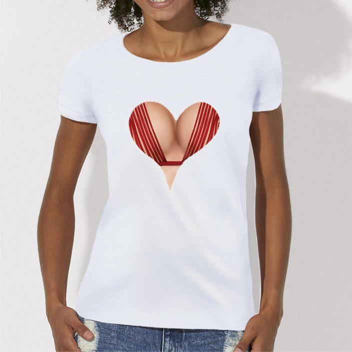 t-shirt decolleté