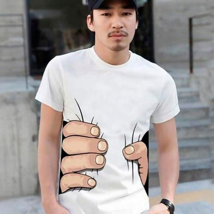 T-shirt illusion d'optique