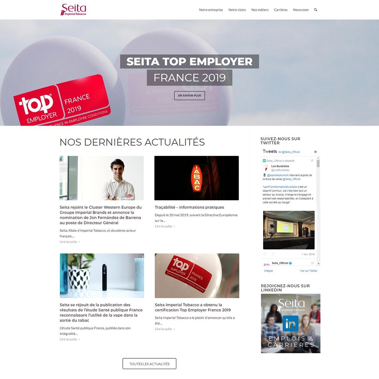 Site de presentation Seita